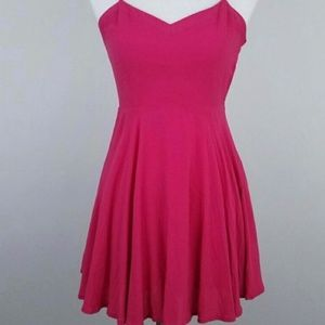 ARITZIA TALULA LIPINSKI SKATER DRESS HOT PINK SZ 4